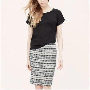 Ann Taylor Loft Embroidered Dot Pencil Skirt